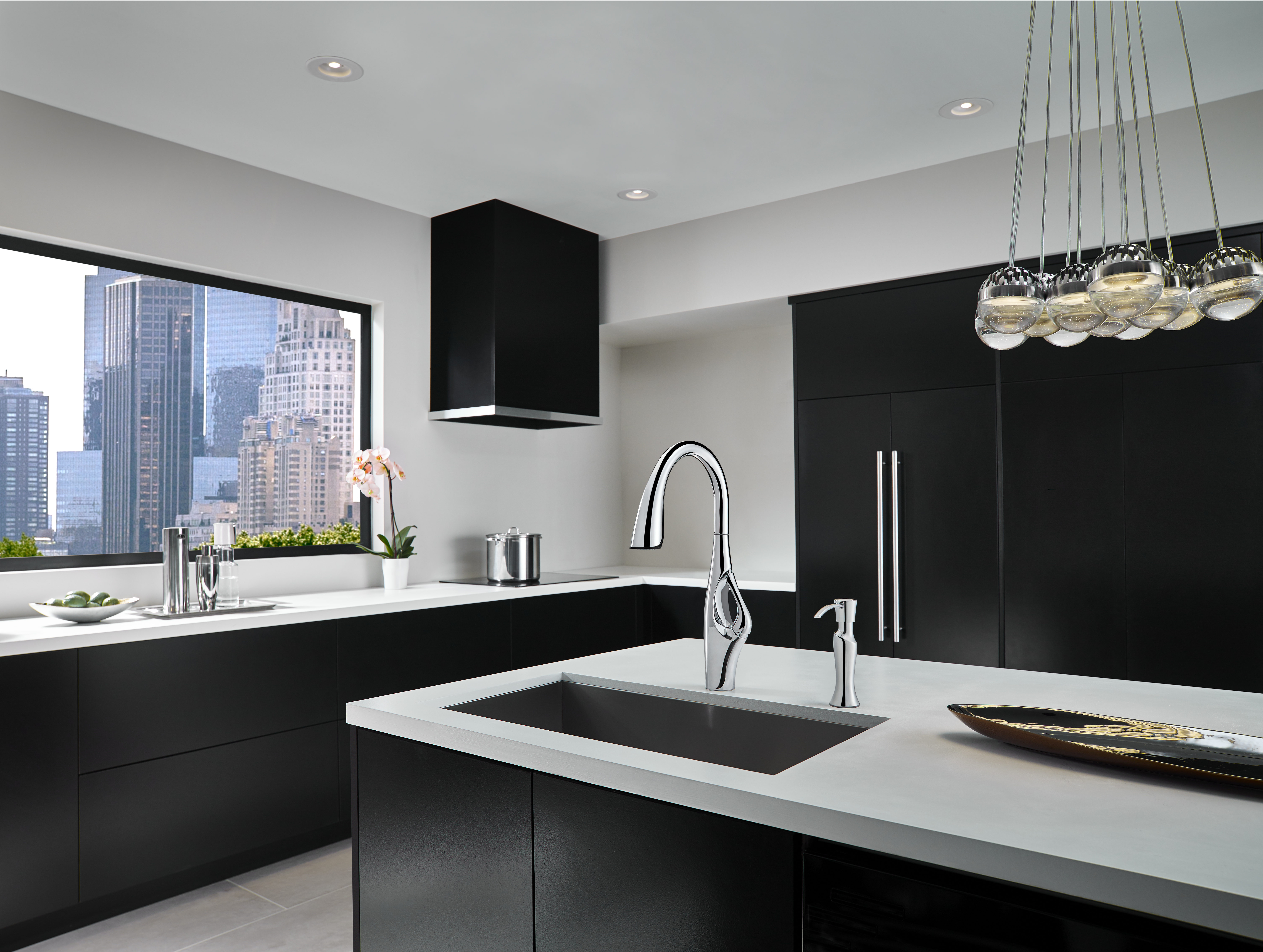 Artistic Pfister® Faucet with Unique Handle Integration Adds Stand ...